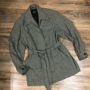 100% wool Banana Republic houndstooth coat S
